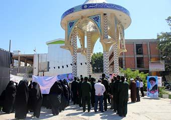 عکس و گزارش ازمراسم تجدید میثاق بانوان فرهیخته آزادشهری با شهدا + بیانیه