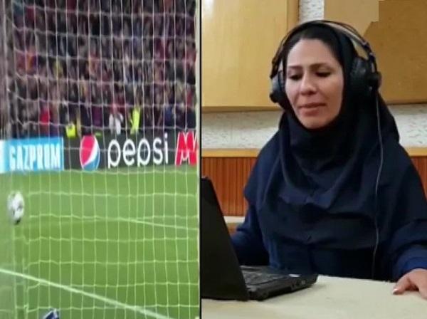 سنت شکنی در صداوسیما / استفاده از گزارشگر زن در بازی فوتبال! + عکس