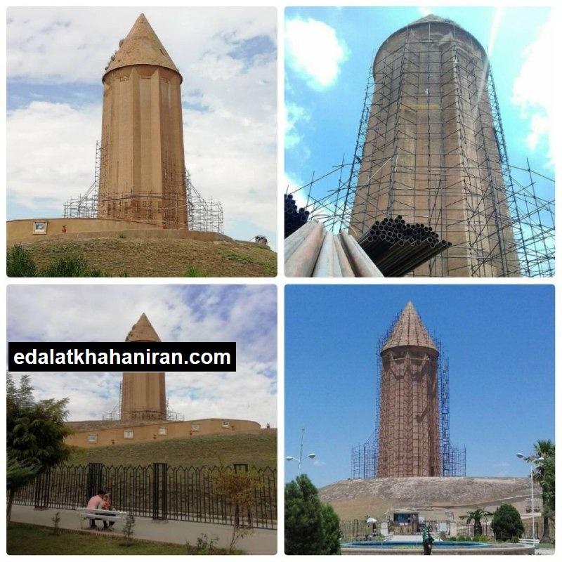 آیا داربستهای برج گنبد قابوس به فرجام دکل نفتی دچار شدند؟!