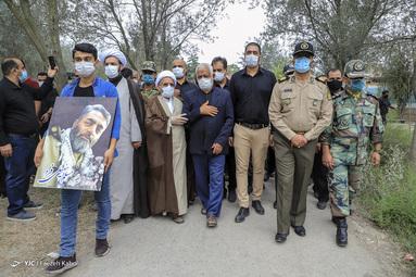 گزارش تصویری از مراسم تشییع «سروان مسلم سهیلی فرد» شهید مدافع سلامت در روستای سیدمیران گرگان