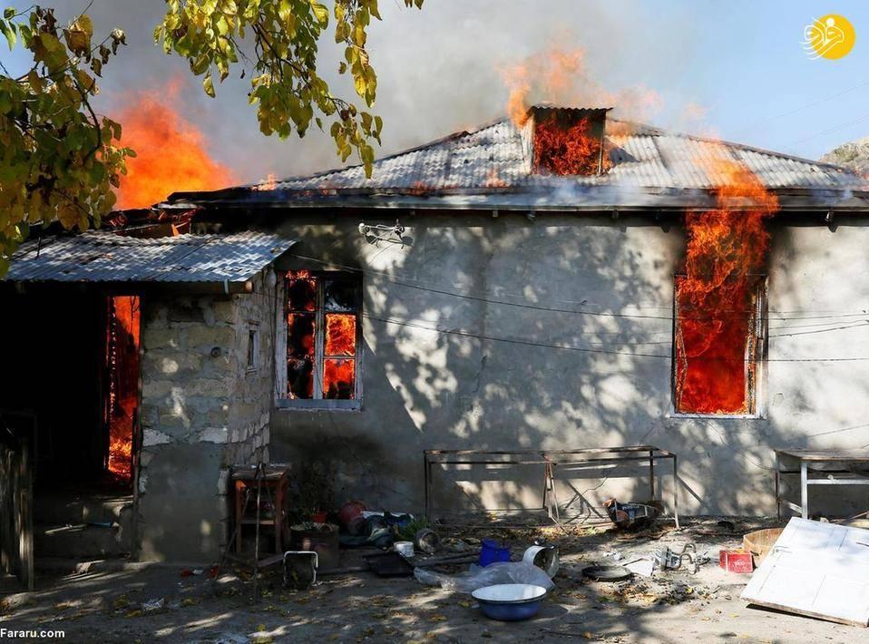 (تصاویر) ارمنیهای خانههایشان را آتش زدند!