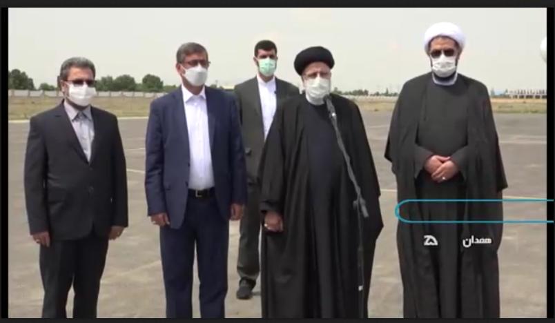 فیلم/ صحبتهای حجتالاسلام رئیسی در بدو ورود به همدان