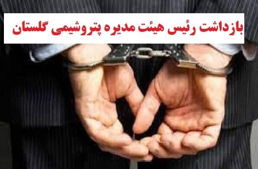 بازداشت کامیاب رئیس هیئت مدیره پتروشیمی گلستان