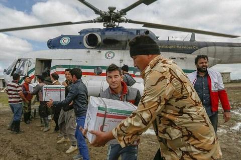گزارش تصویری از امدادرسانی به سیلزدگان گمیشان