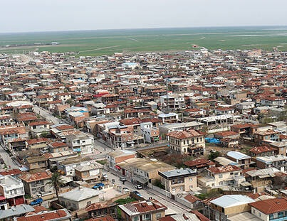 تصاویر هوایی از شهر سیل زده گمیشان