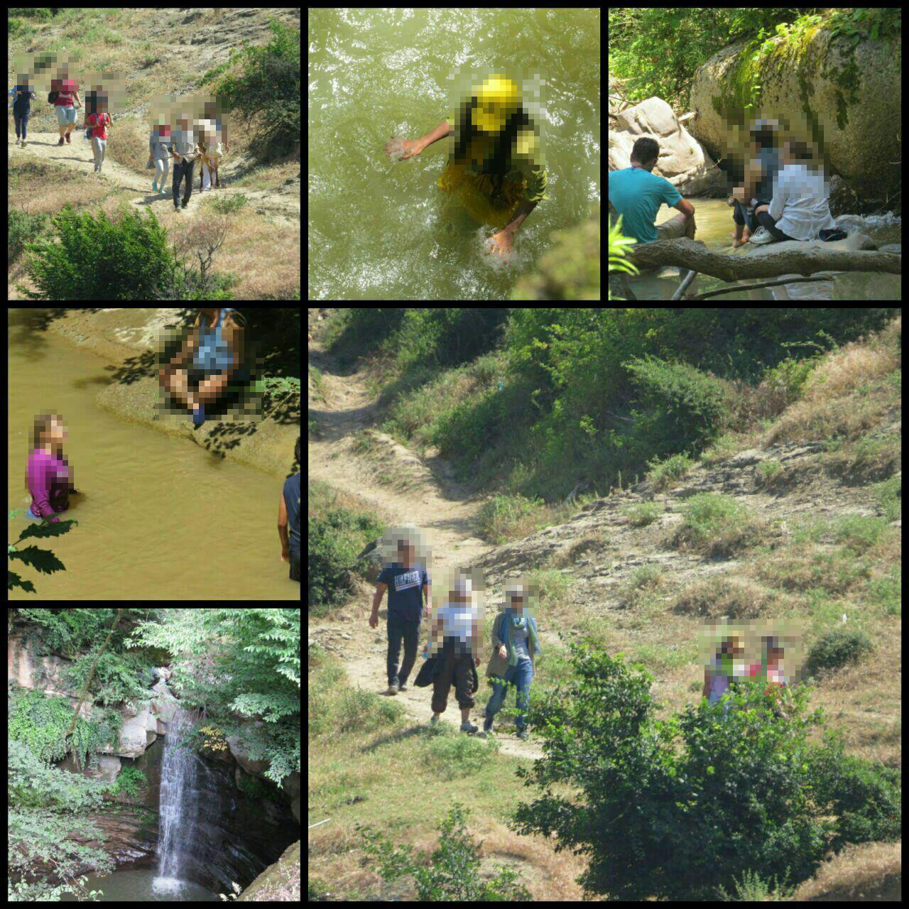 هنجارشکنی در تفرجگاه روستای ساسنگ شهرستان مینودشت